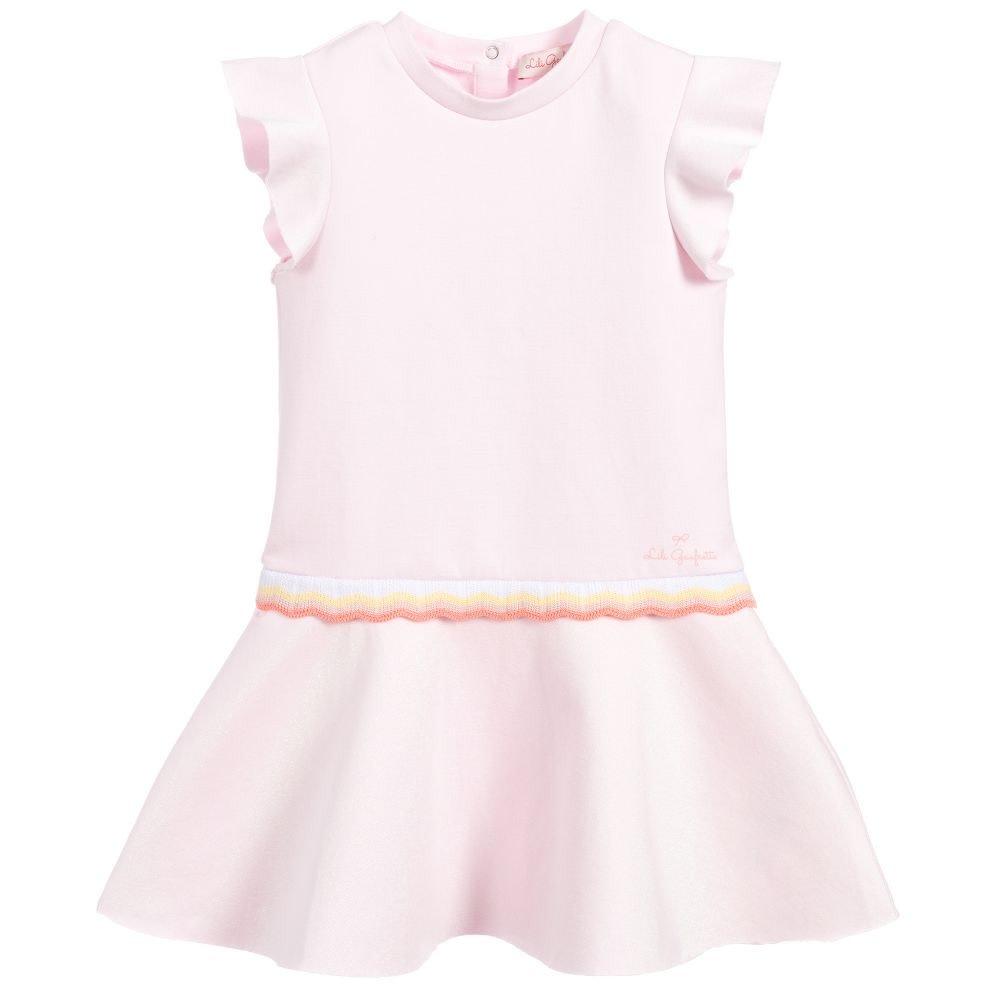 Lili Gaufrette Lili Gaufrette 30051 Pink Dress with waist band detail