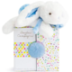 Dou Dou Doudou Et Compagnie White and Blue Fluffy Bunny
