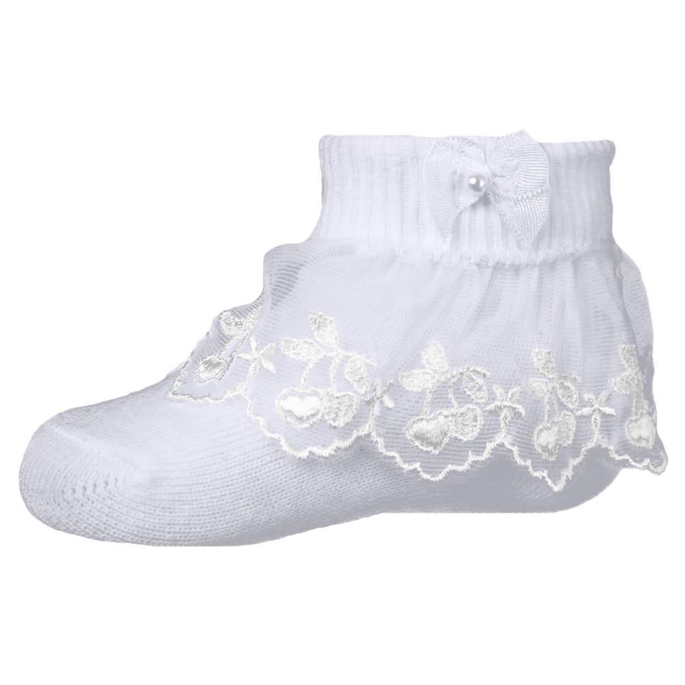 Pex Cherry Lace Frill Sock