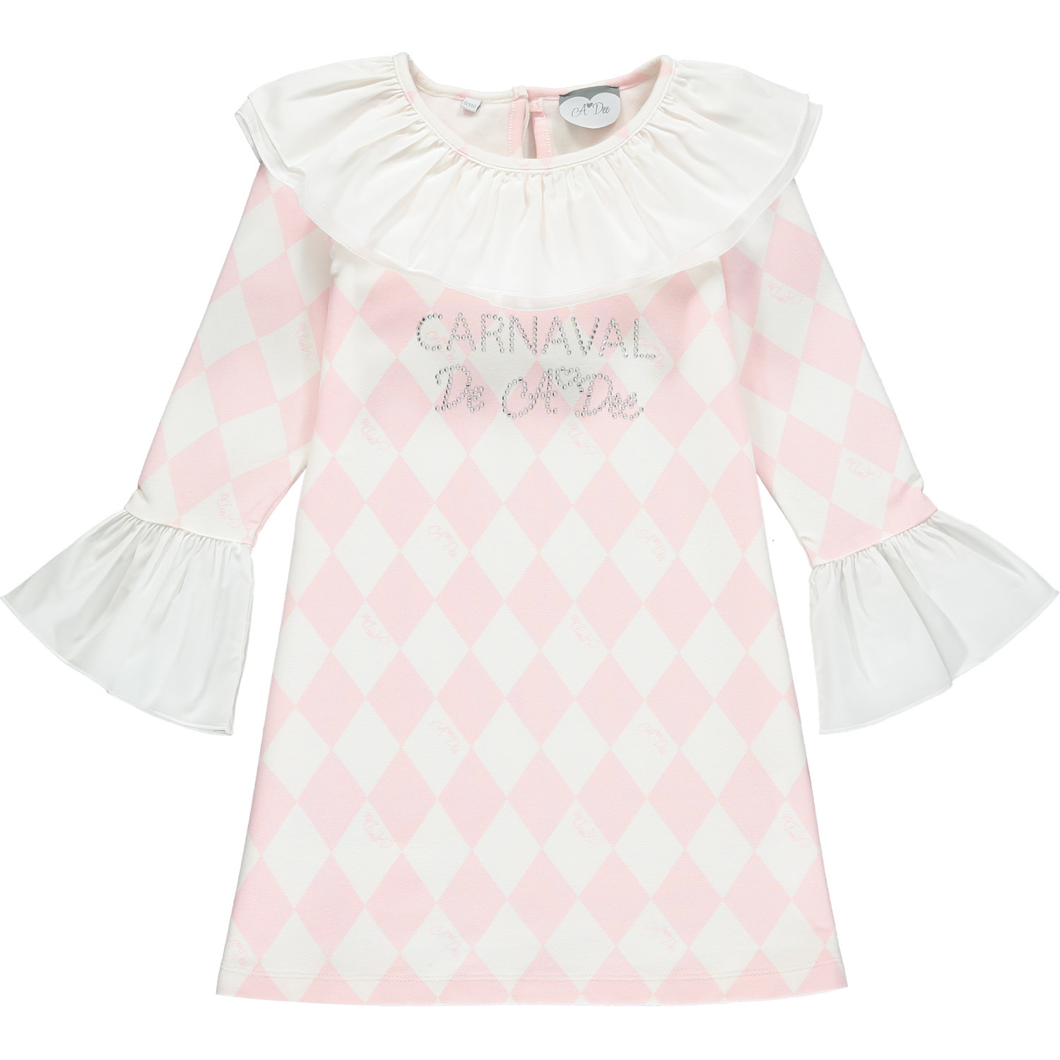 A Dee ADee Freeda Pink Harlequin Dress