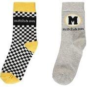 Mitch and Son Mitch & Son Weston Grey Taxi Socks