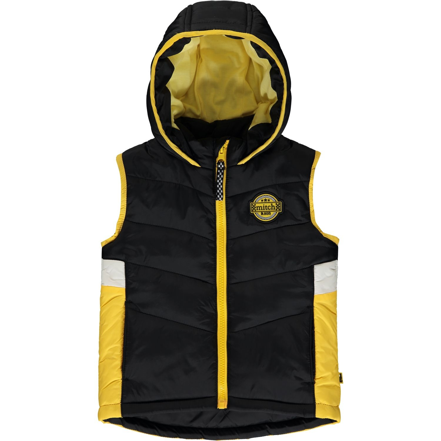 Mitch and Son Mitch & Son Wesley Black Block Colour Padded Gillet