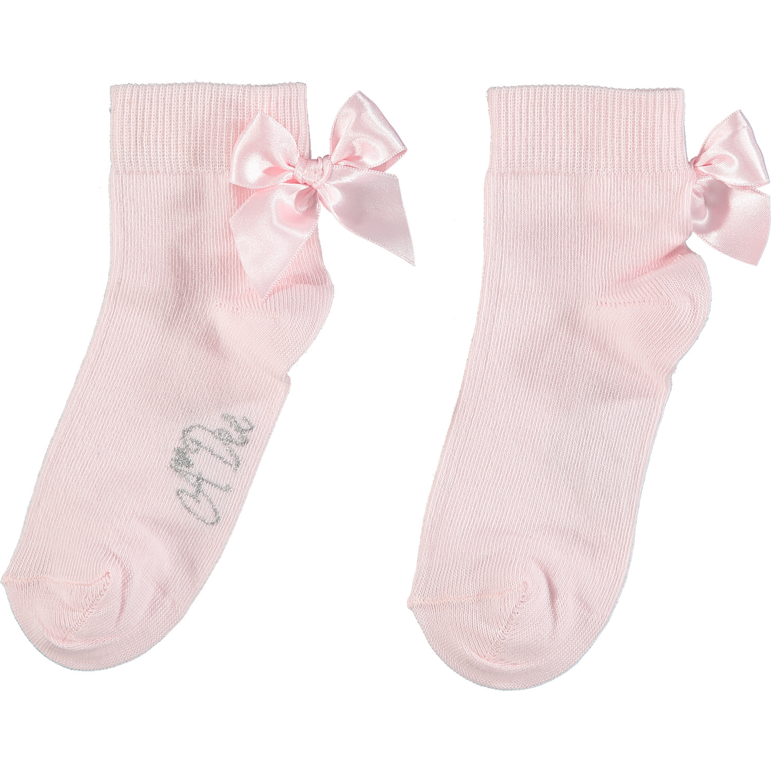 A Dee ADee Flo Pale Pink Bow Ankle Sock