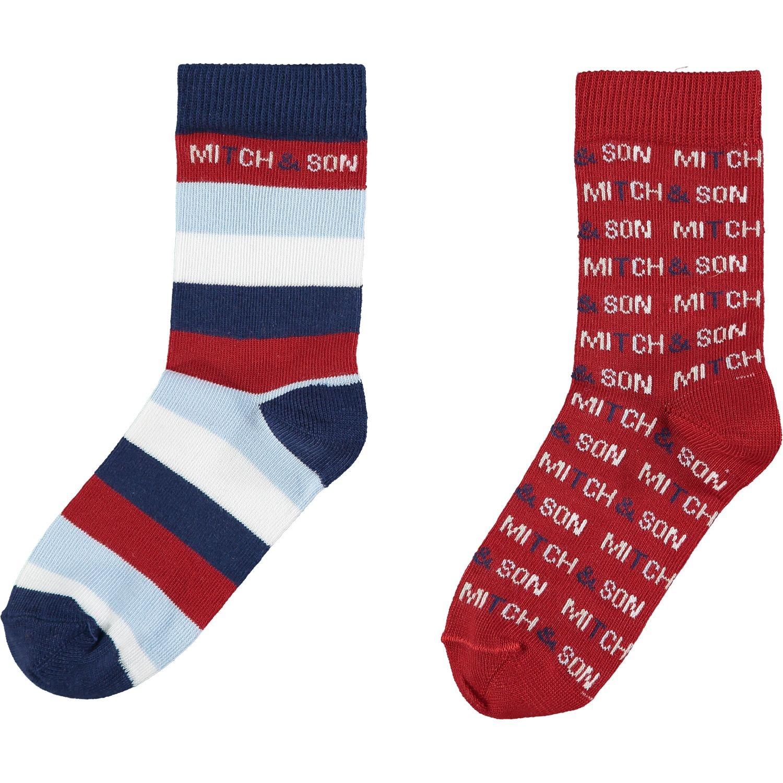 Mitch and Son Mitch & Son Bennett Navy/Red Socks