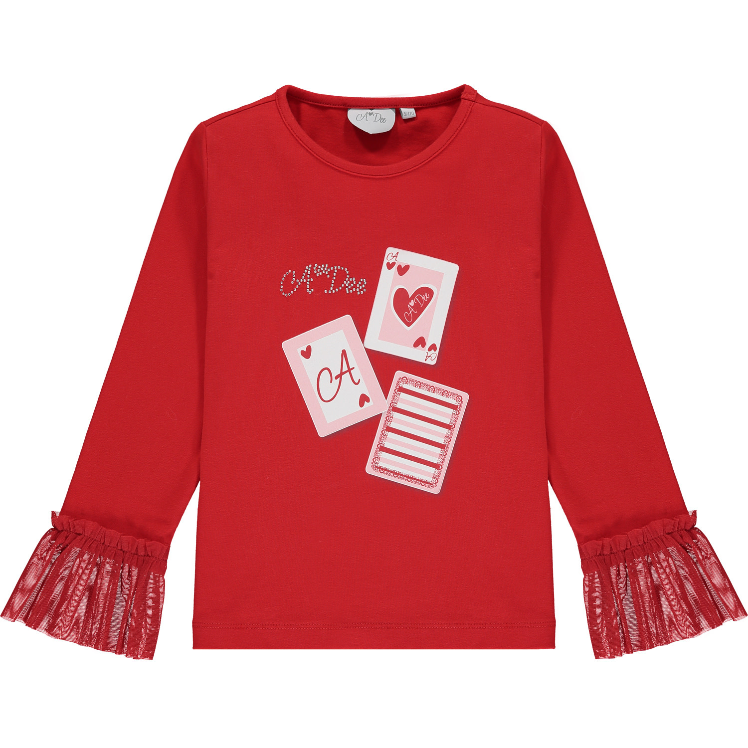 A Dee ADee Elizabeth Red Playing Cards Top