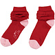 A Dee ADee Erin Red Frill Ankle Sock