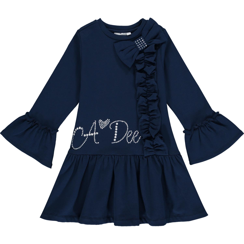 A Dee ADee Huda Navy Sweat Frill Dress