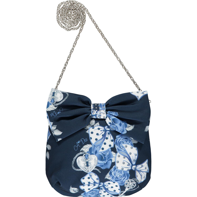 A Dee ADee Hazel Navy Print Bows and Roses Bag