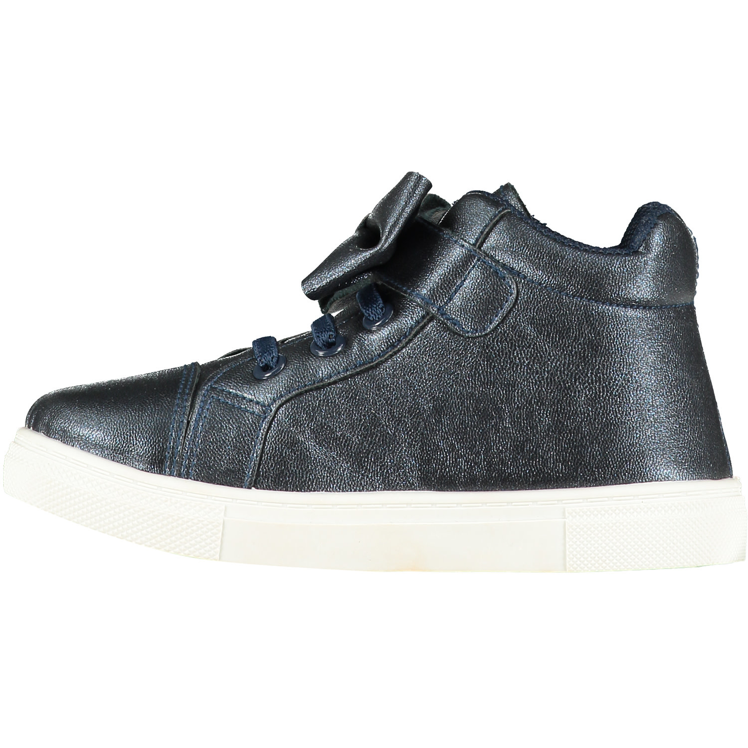 A Dee ADee Bowtique Navy Blue Bow High Top Trainers