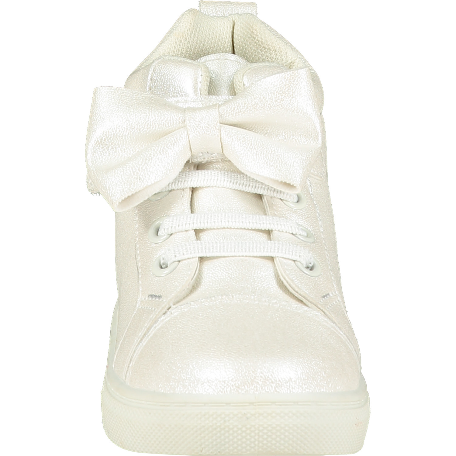 A Dee ADee Bowtique Snow White Bow High Top Trainers