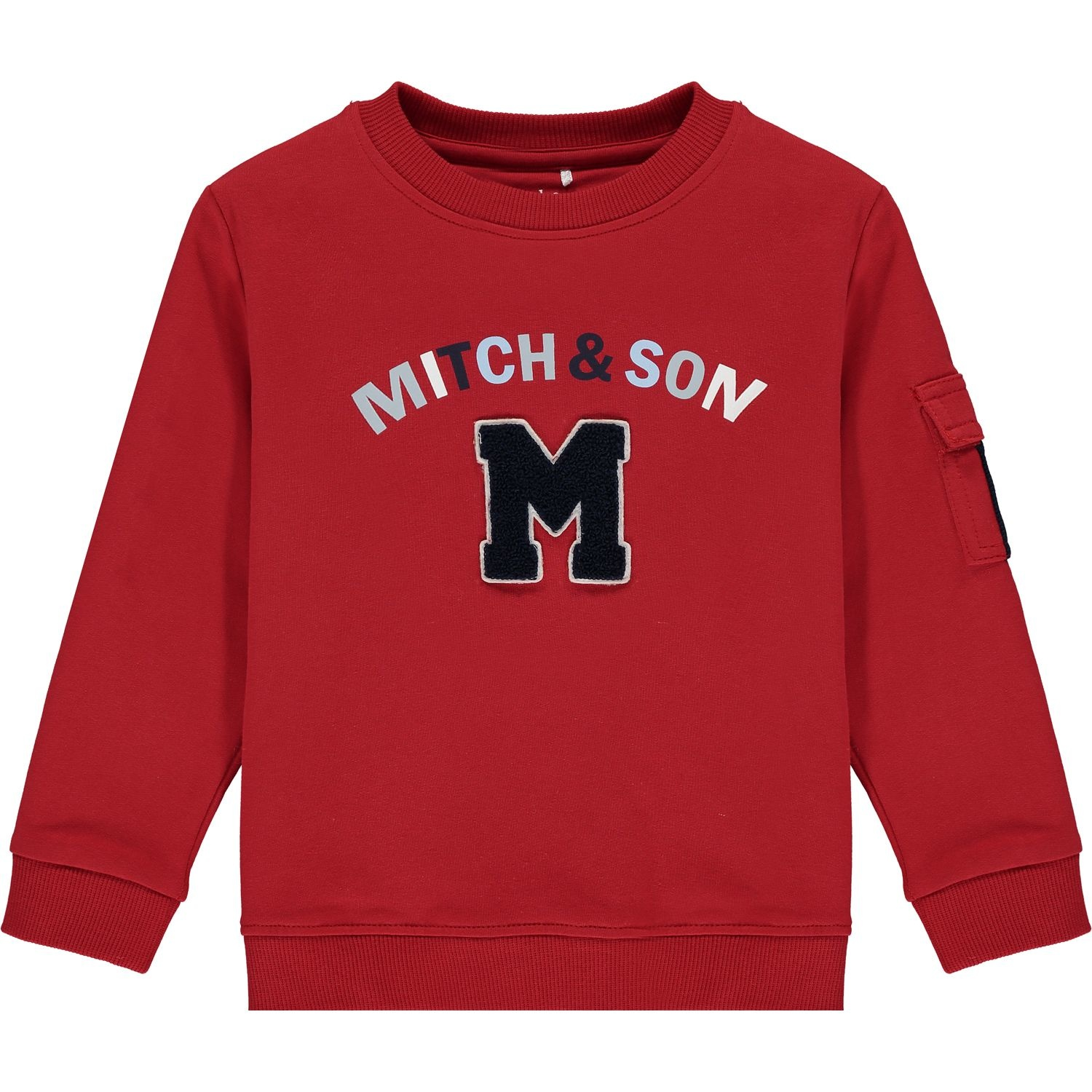 Mitch and Son Mitch & Son Connor Chilli Red Loop Back Tracksuit