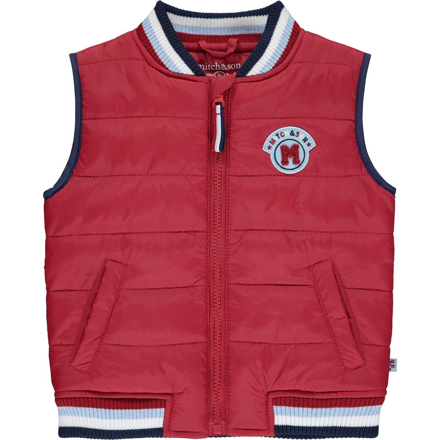Mitch and Son Mitch & Son Waylon Chilli Red Padded Gillet