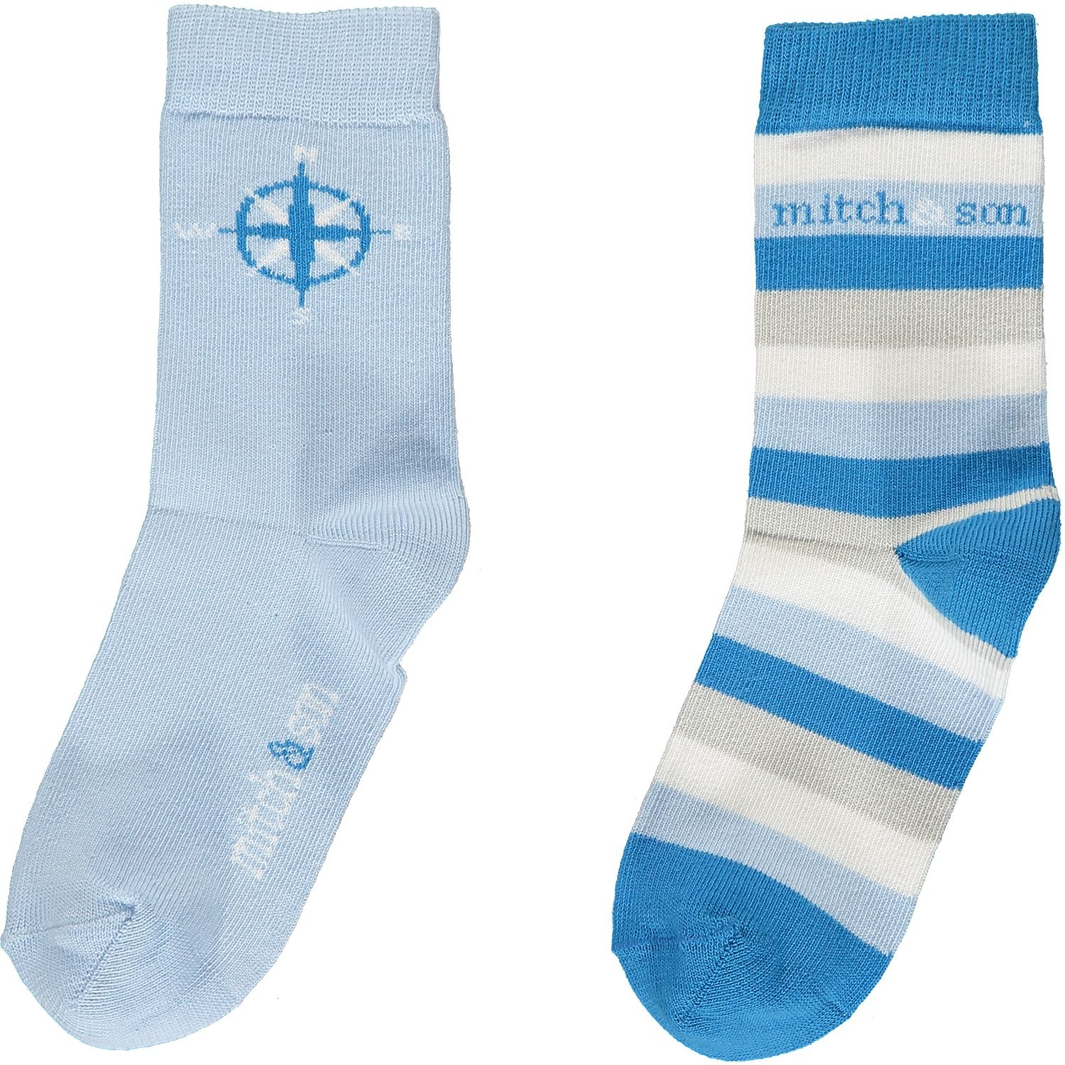 Mitch and Son Mitch & Son Cole Pale Blue Explorer Socks