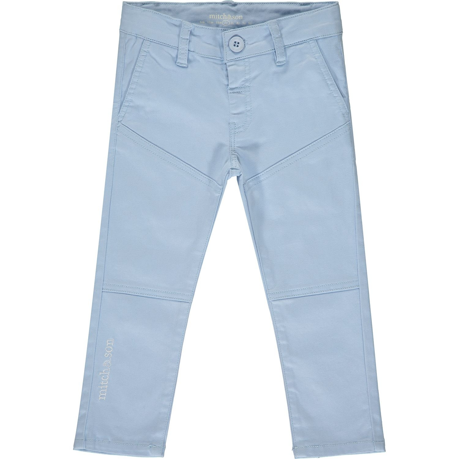 Mitch and Son Mitch & Son Kingston Pale Blue Twill Trouser