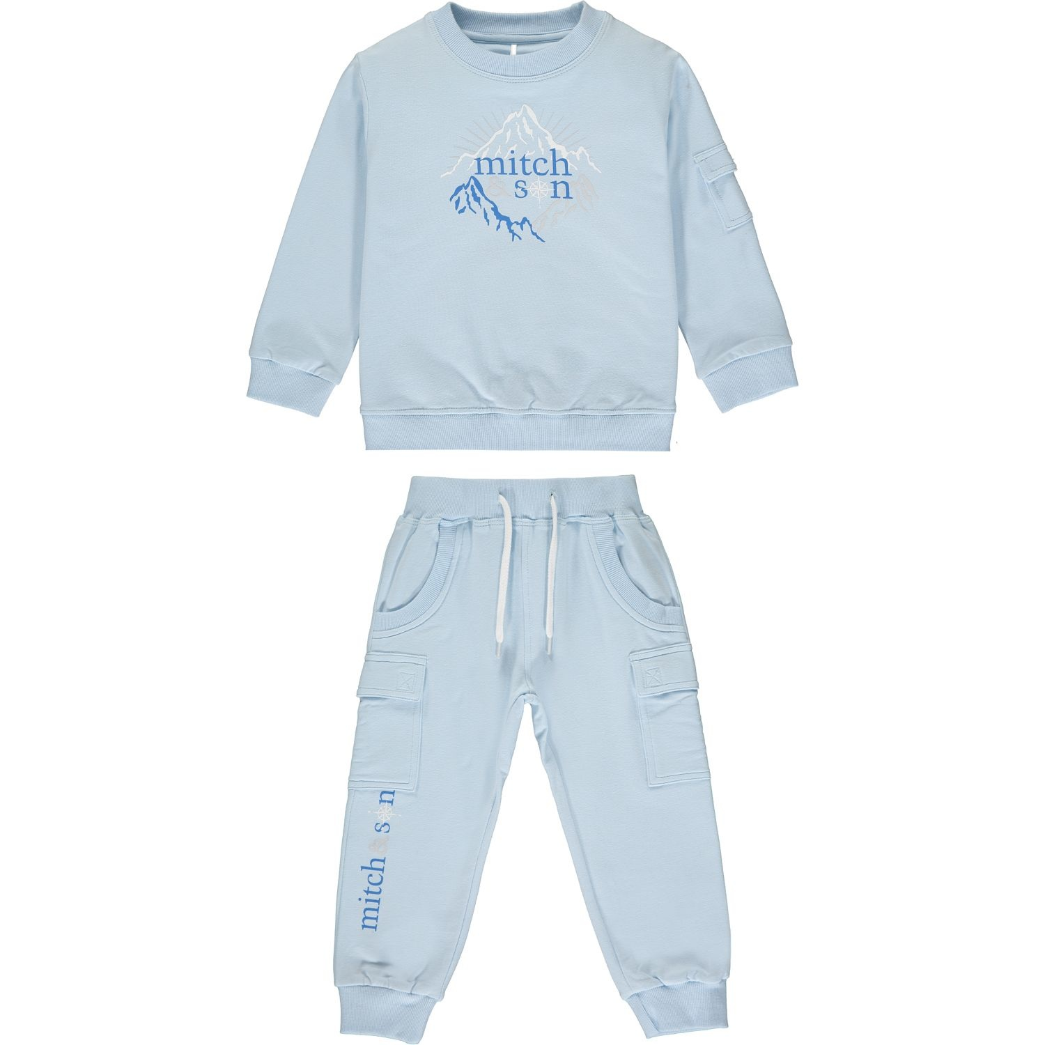 Mitch and Son Mitch & Son Maxwell Pale Blue Explore Tracksuit
