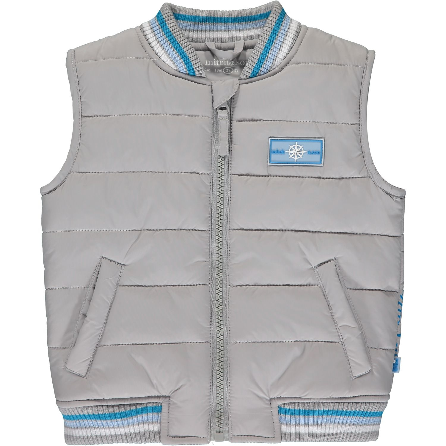 Mitch and Son Mitch & Son Kevin Light Grey Padded Gillet