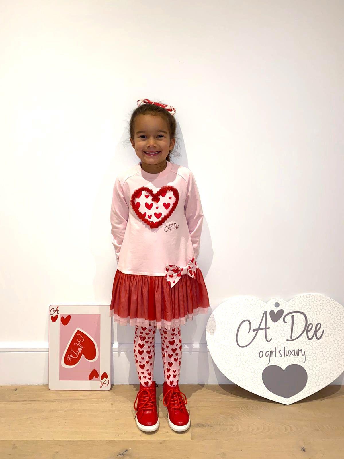 A Dee ADee Elanor Pink Fairy Heart &Tule Dress