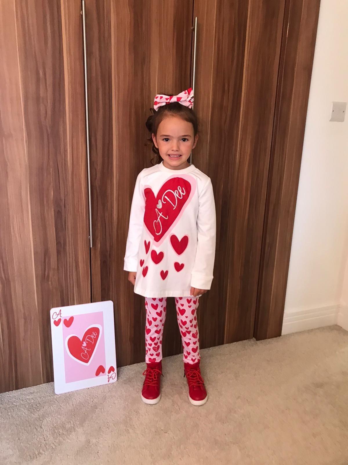 A Dee ADee Evie Snow White Hearts Legging Set