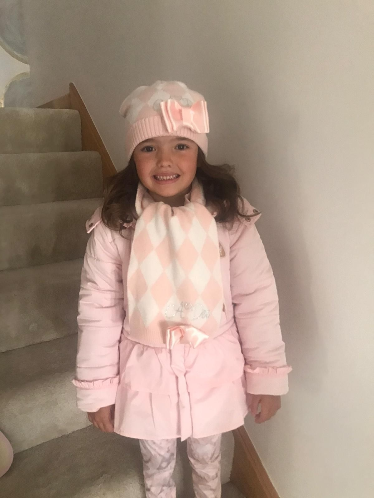 A Dee ADee Fila Pale Pink Harlequin Hat SMALL