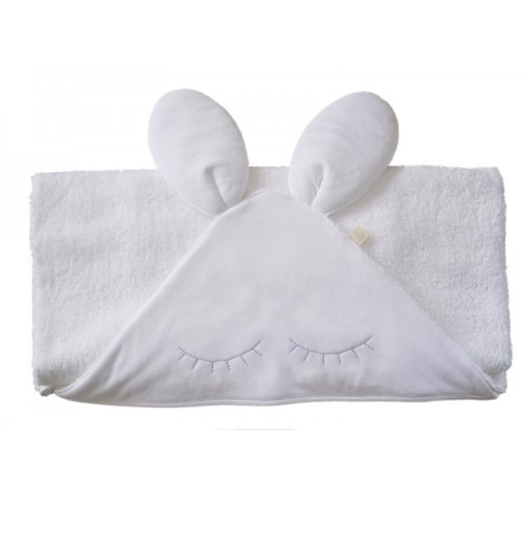 Baby Gi Bunny Towel with Blue eye lashes
