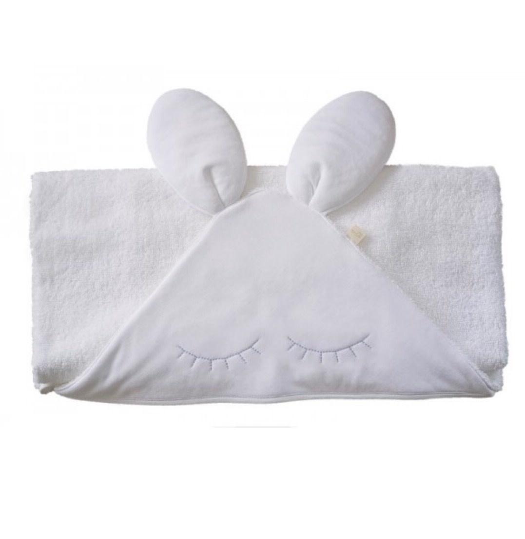 Baby Gi Bunny Towel with Pink eye lashes