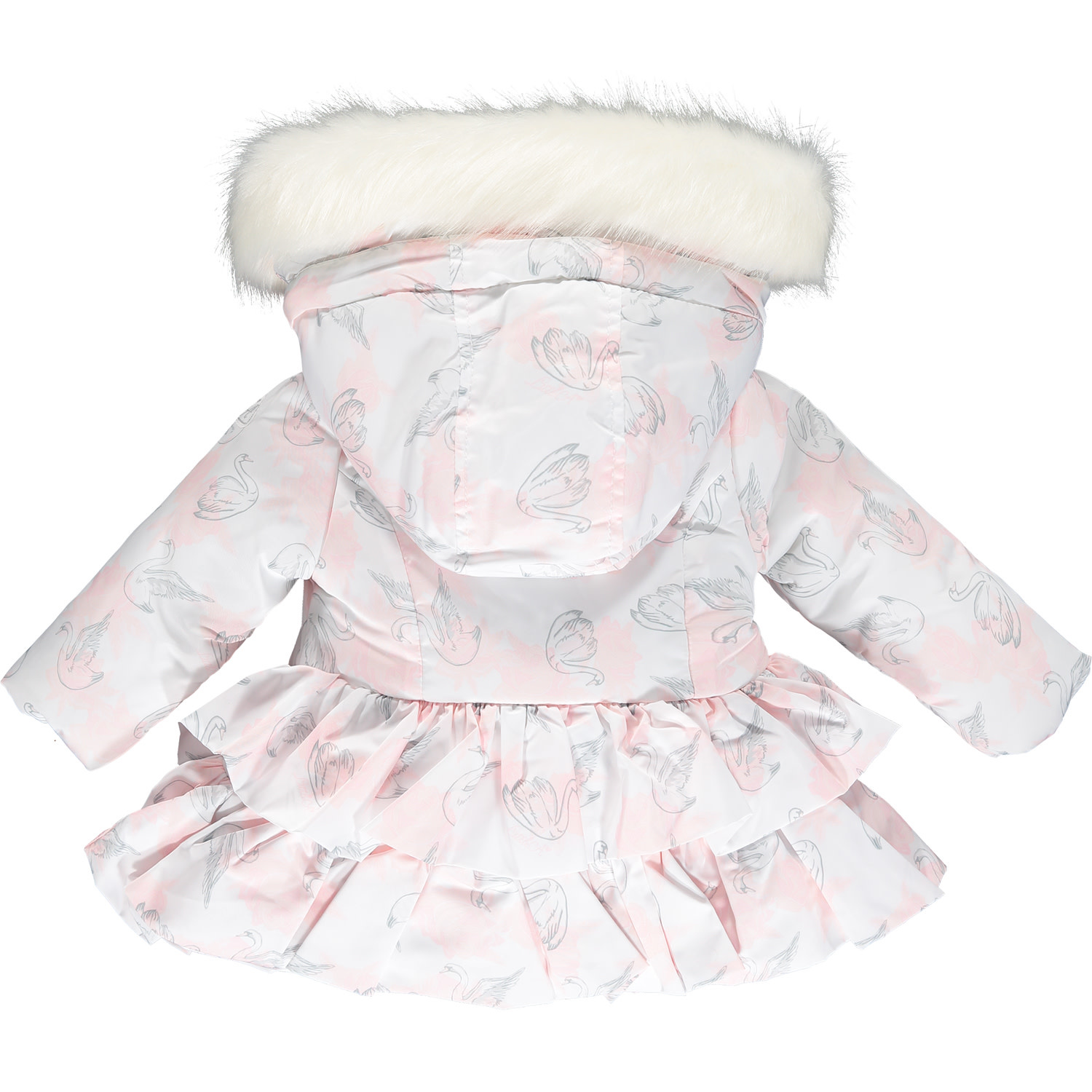 ADee Baby Little A India White Rose Print Baby  Jacket