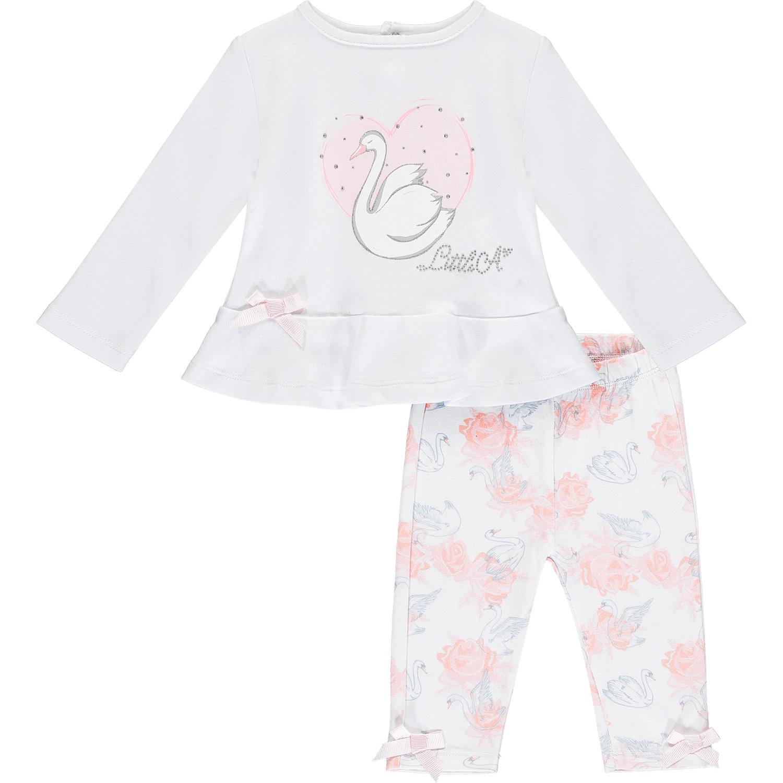 ADee Baby Little A Imogen white swan Legging Set