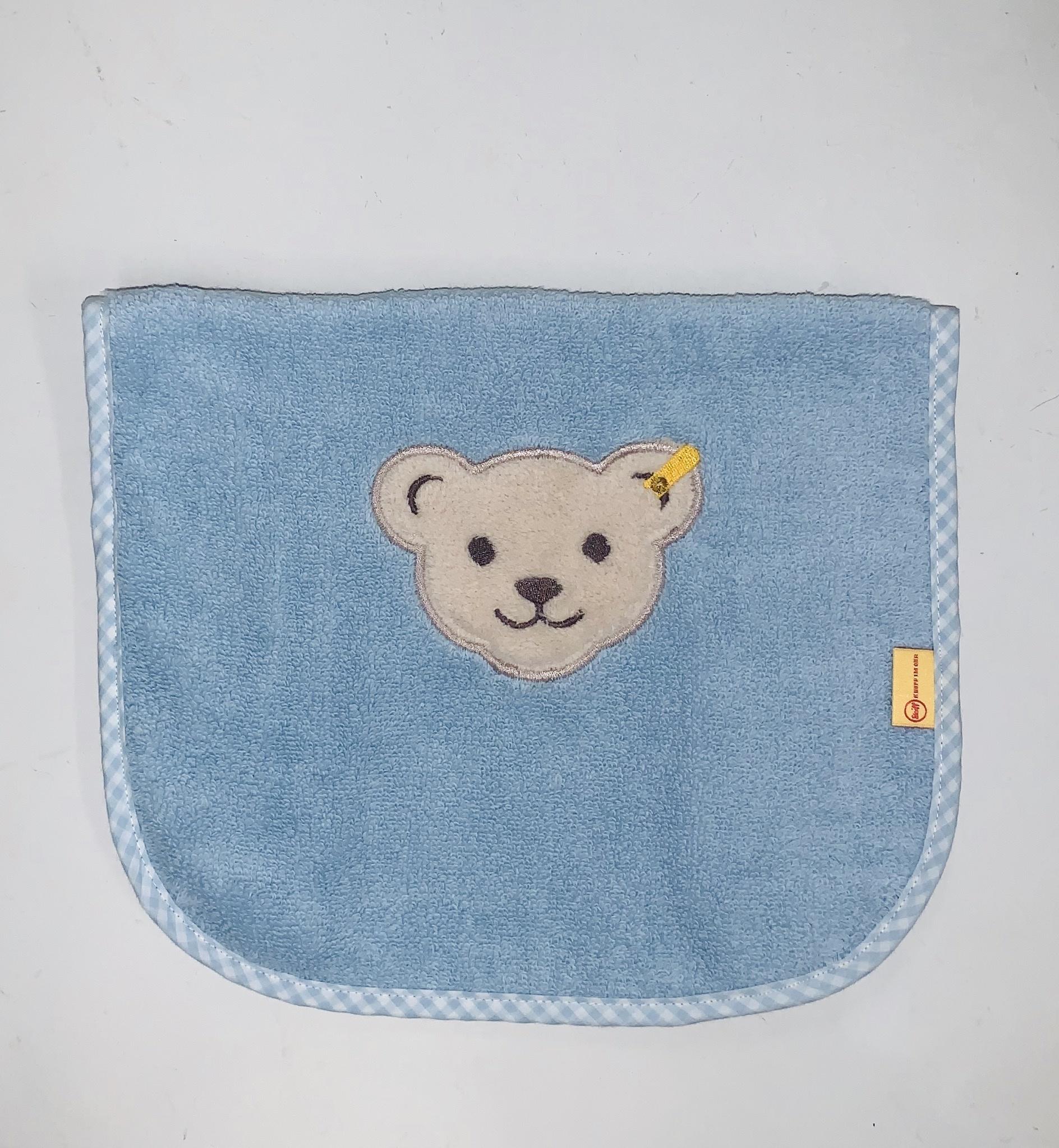 Steiff Bear Bib - Blue