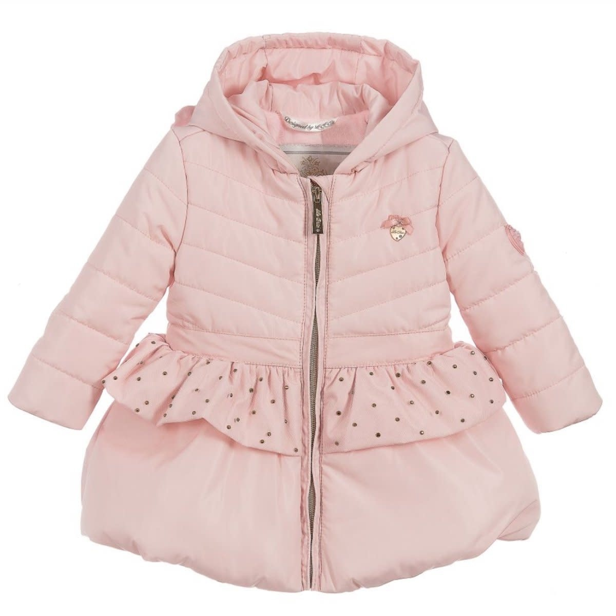 Lechic LeChic C007-7213 Pink Coat with Bow & Net 9-12 Months