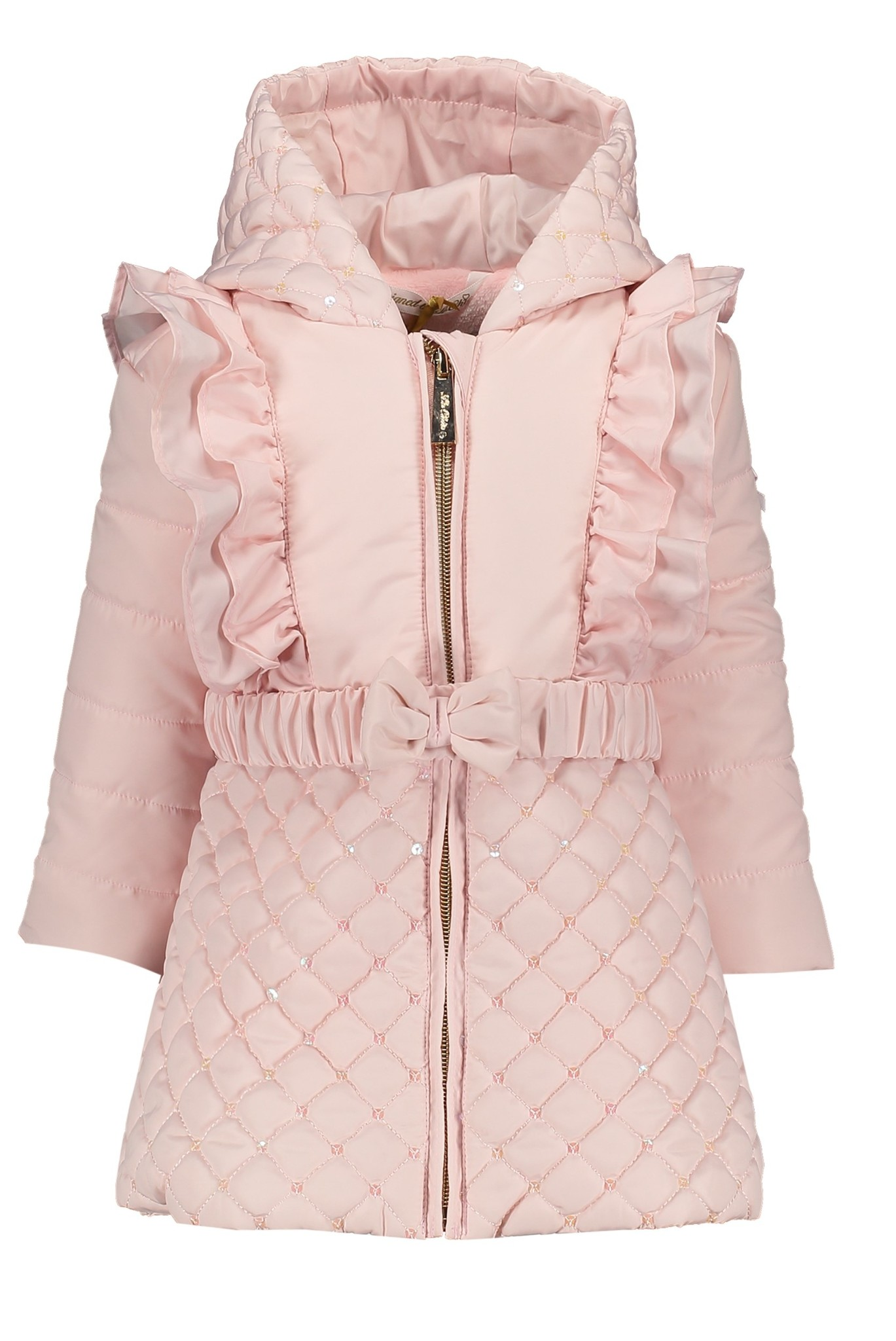 Lechic LeChic C007-7217 Pink coat with Diamond Quilting