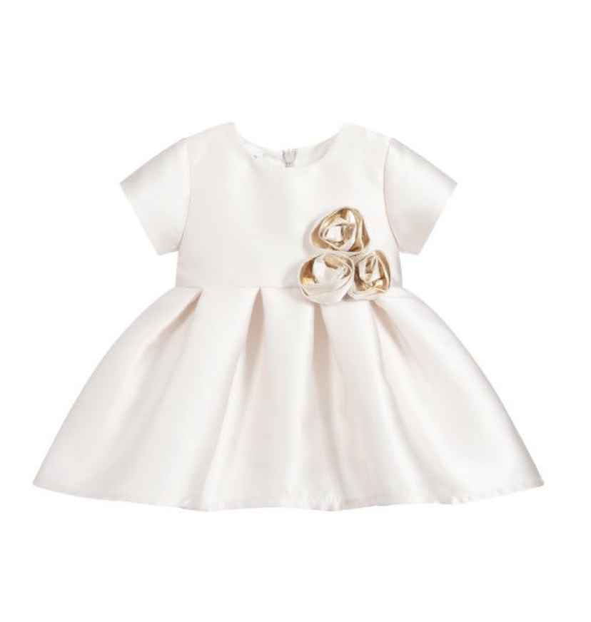 Ido Ido 1252 Champagne Dress with Roses