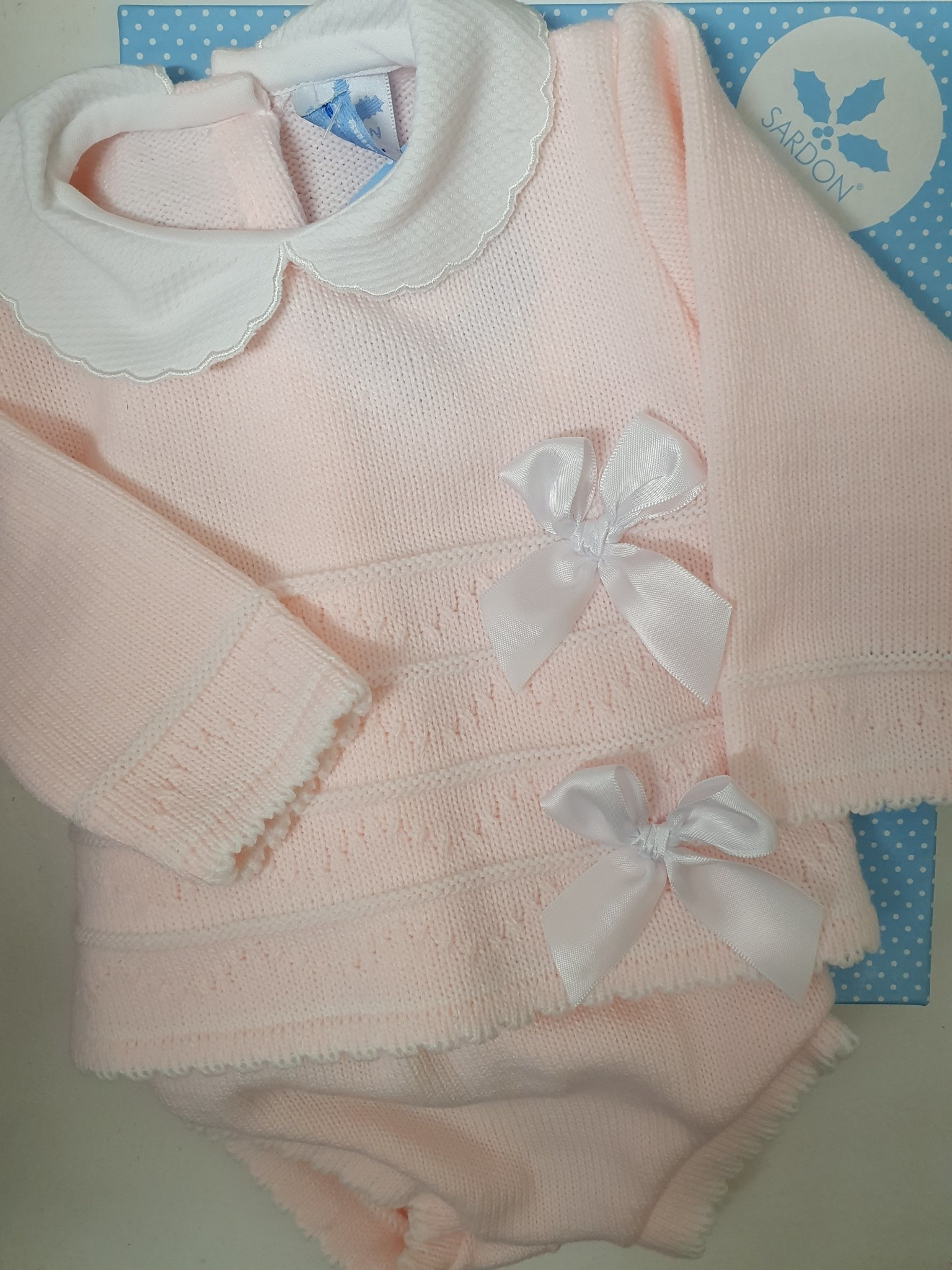 Sardon Pink Double Bow Pant Set 194