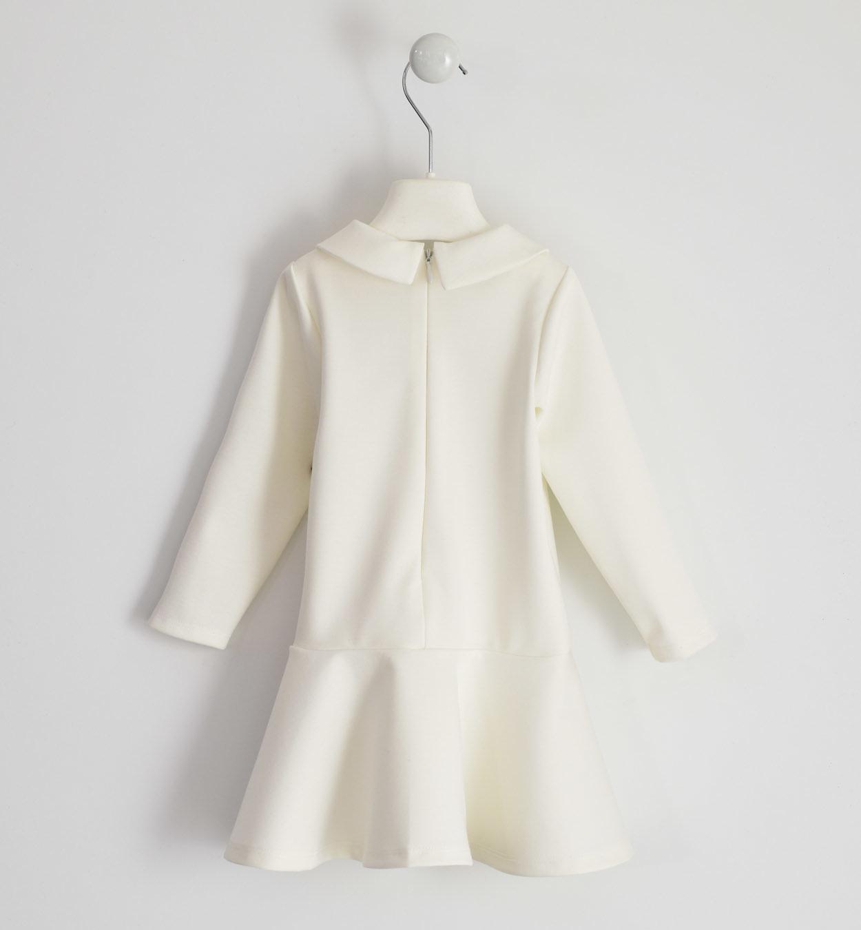 Ido Ido 1643 Winter White Dress with Crystal Heart Motif