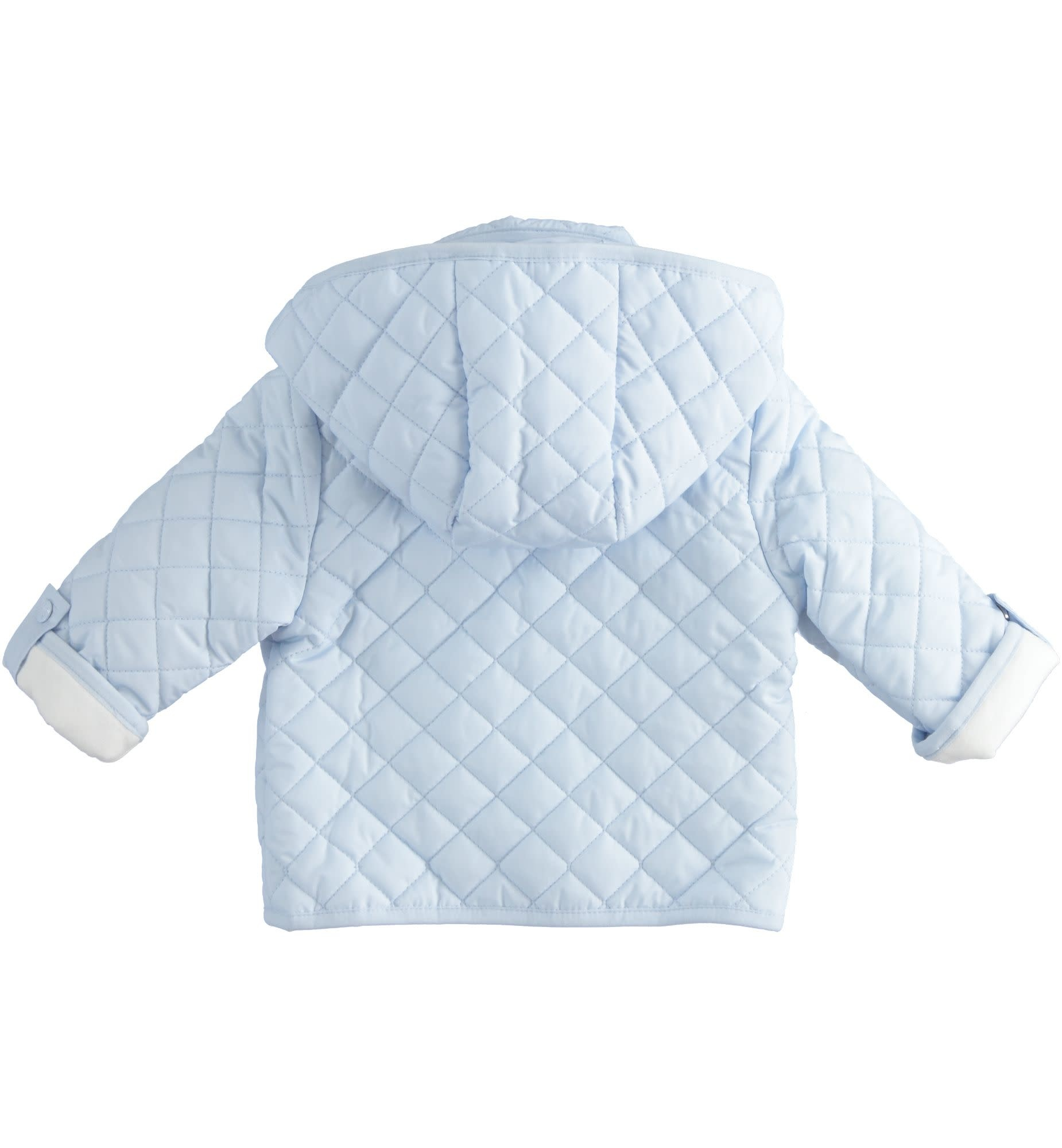 Ido Ido 1292 Blue Bear Quilted Jacket