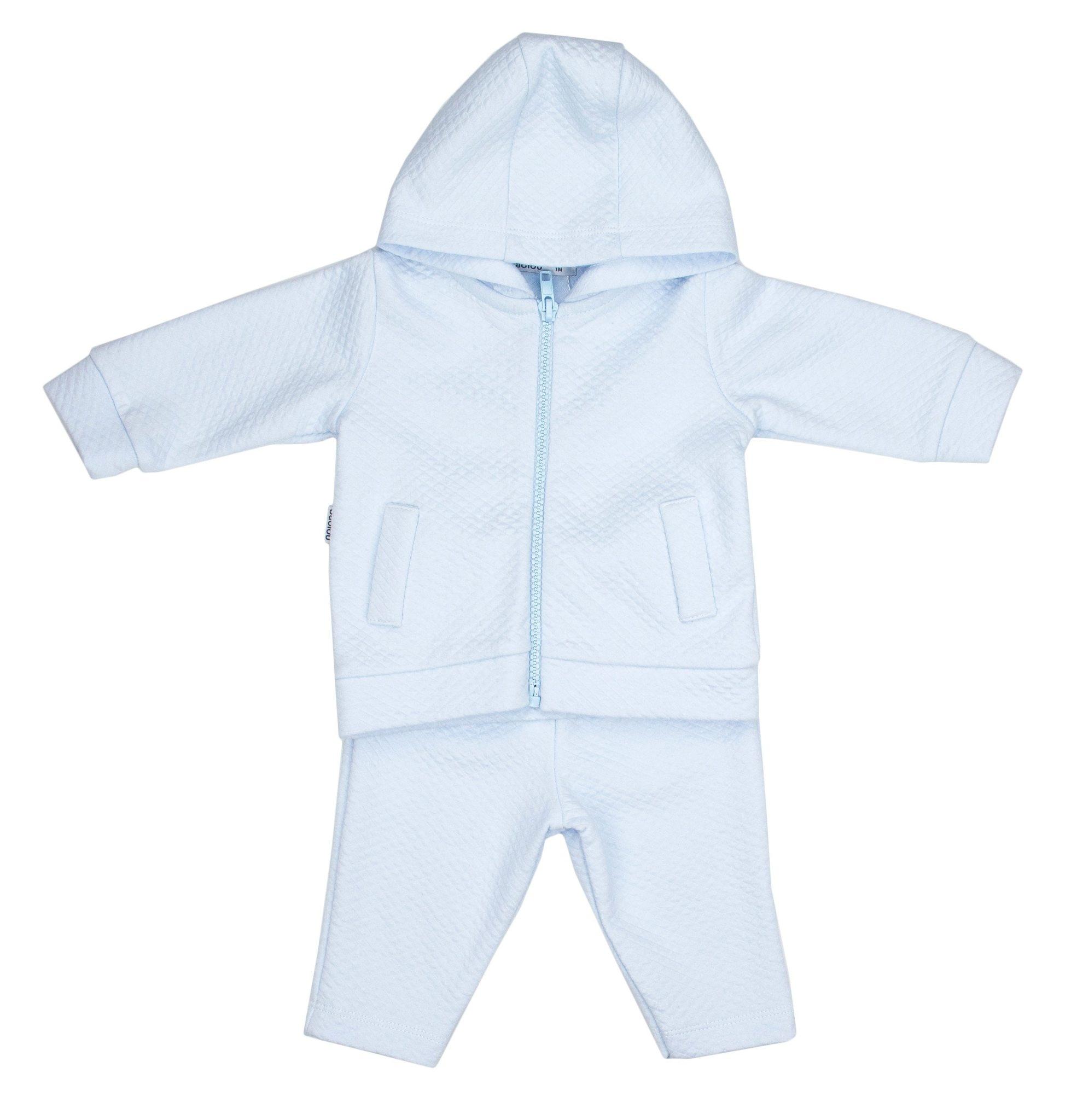 Babidu Babidu 66190 Pale Blue Quilted Zip Tracksuit
