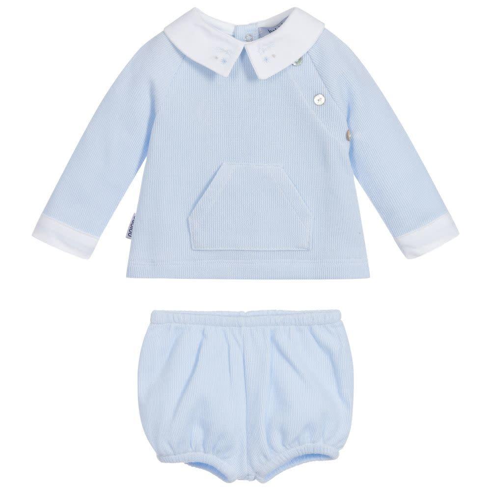 Babidu Babidu 40265 Blue & White Shorts Set