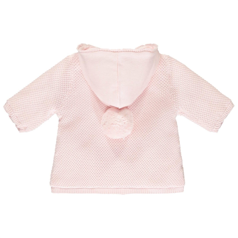 Emile et Rose Emile et Rose Tonya Pink Knit PomPom Hood Jacket
