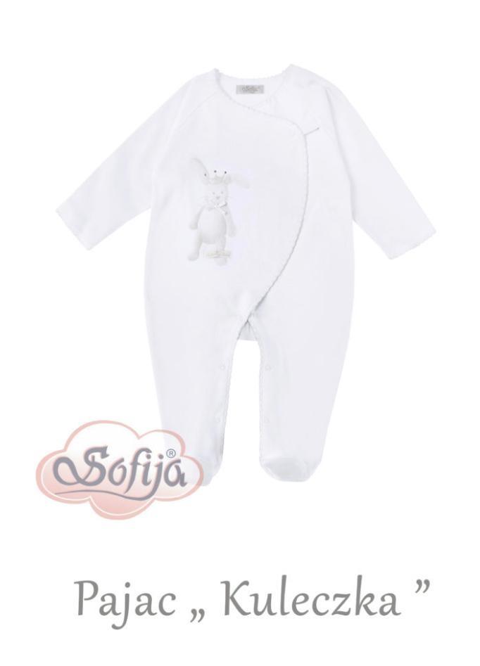 Sofija Sofija Kule Rabbit White Baby Grow
