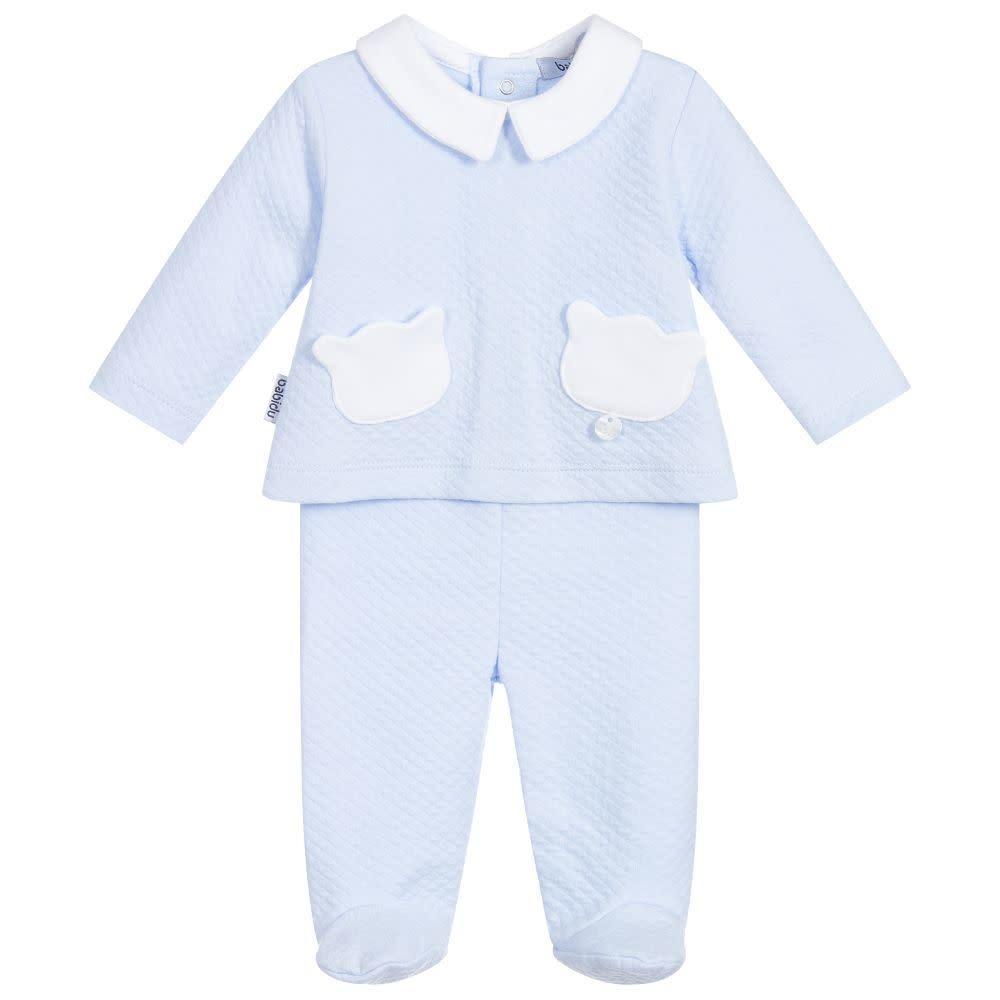 Babidu Babidu 54190 Blue Teddy Pockets 2 piece