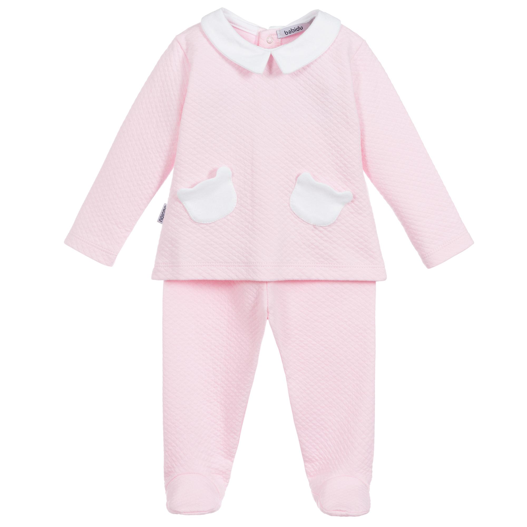 Babidu 54190 Pink Teddy Pockets 2 piece