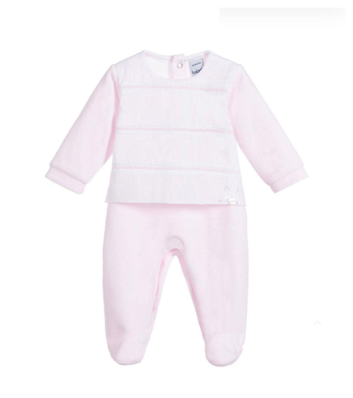 Babidu Babidu 19536 Pink Babygrow