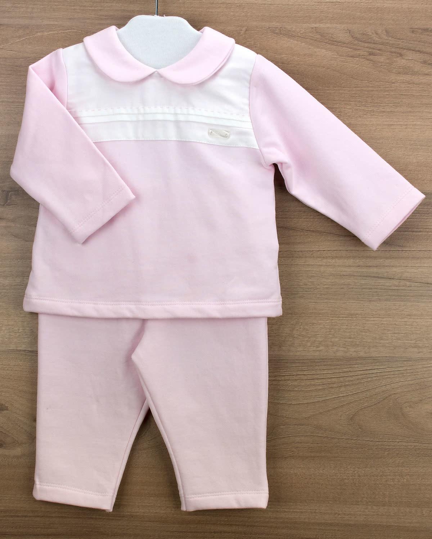 Babidu Babidu 19502 Pink Cotton Trouser Set