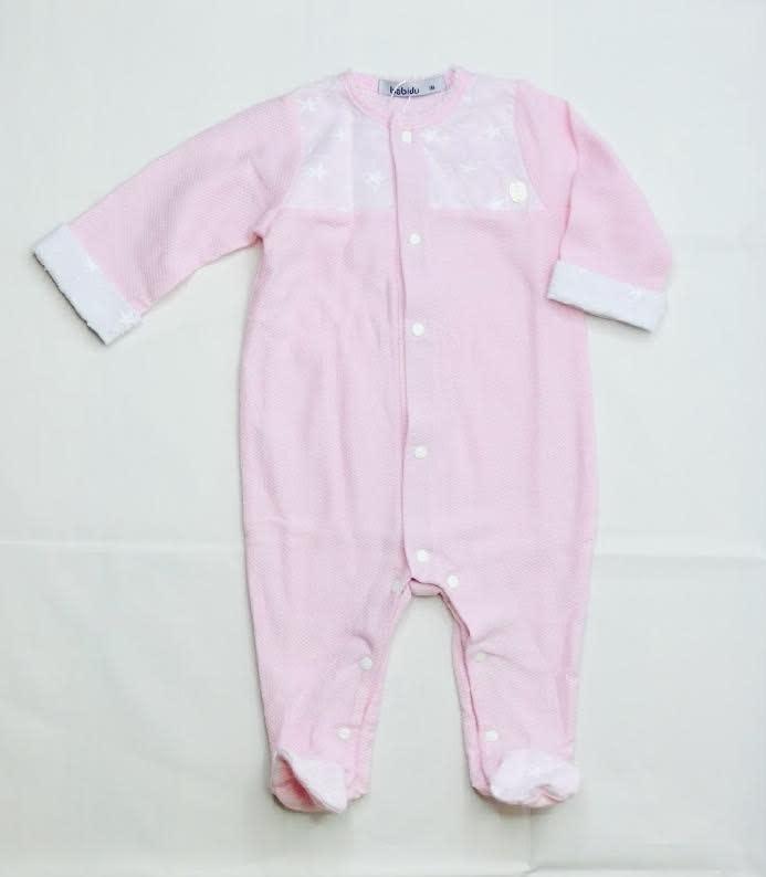 Babidu Babidu 13330 Pink Stars Babygrow