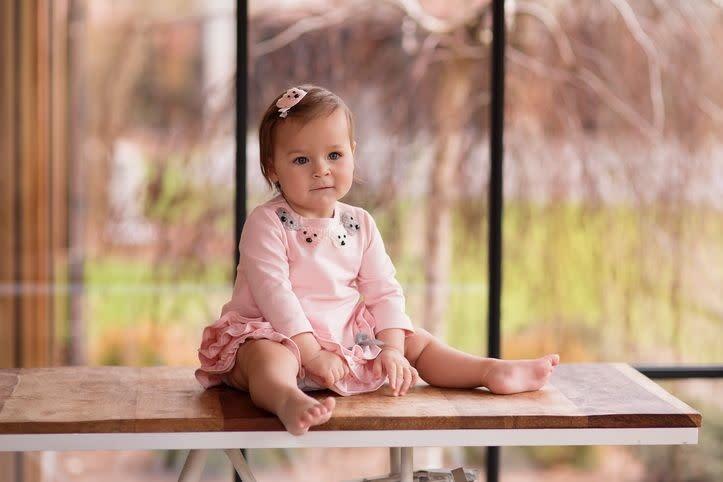 Daga Daga7924 Pink Bear Ruffle Dress
