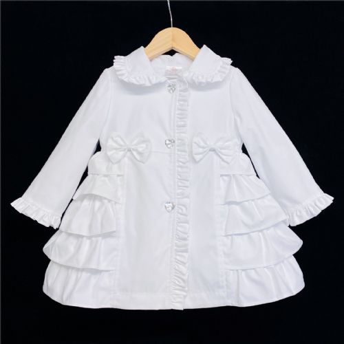 Wee Me WEE ME White Girls Bow Jacket