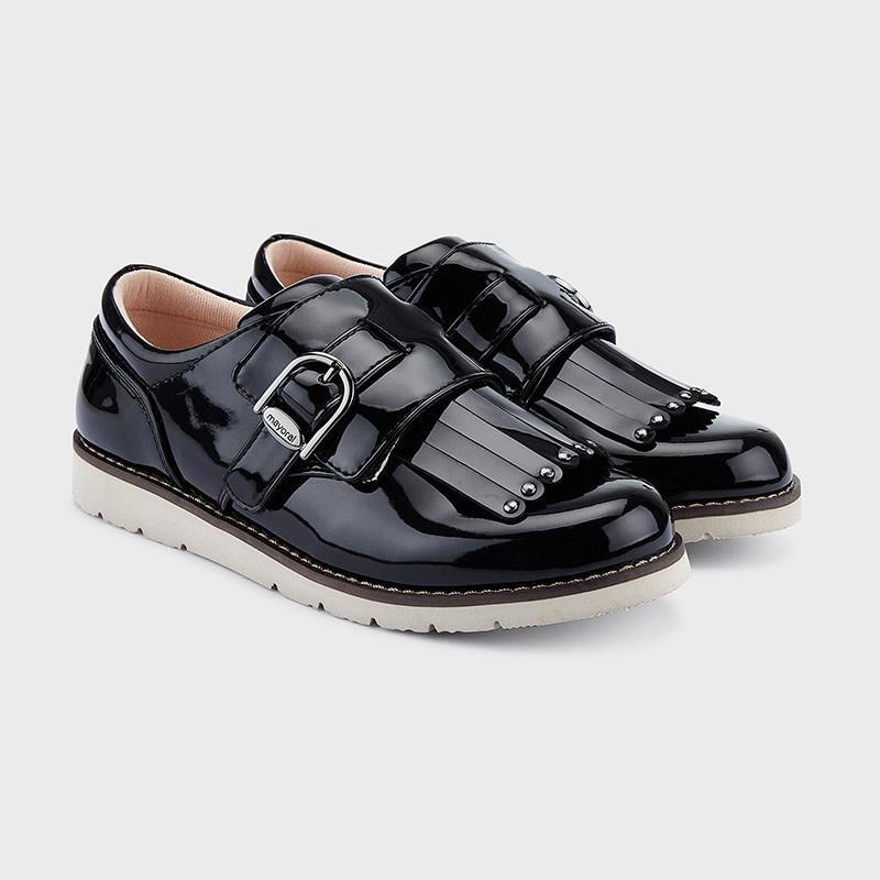 mayoral Mayoral Girls Black Fringe Shoe
