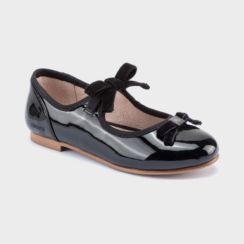 mayoral Mayoral Girls Bow Black Shoe