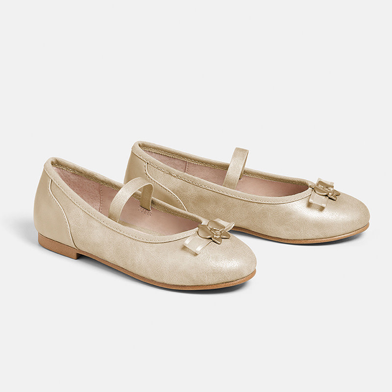 mayoral Mayoral Girls Gold Bow Shoe