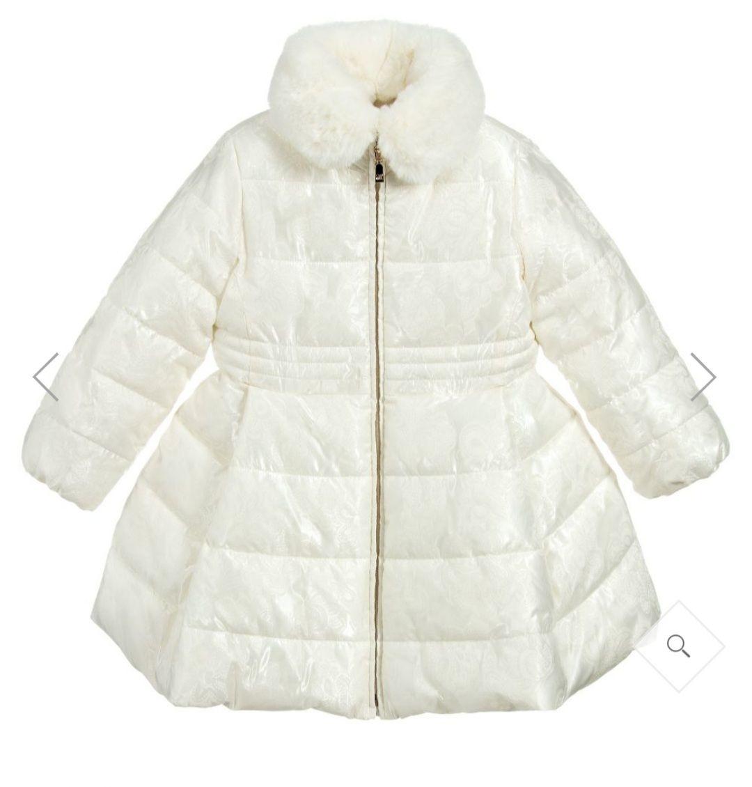 Abel & Lula Abel & Lula Girls Ivory Padded Coat 5831