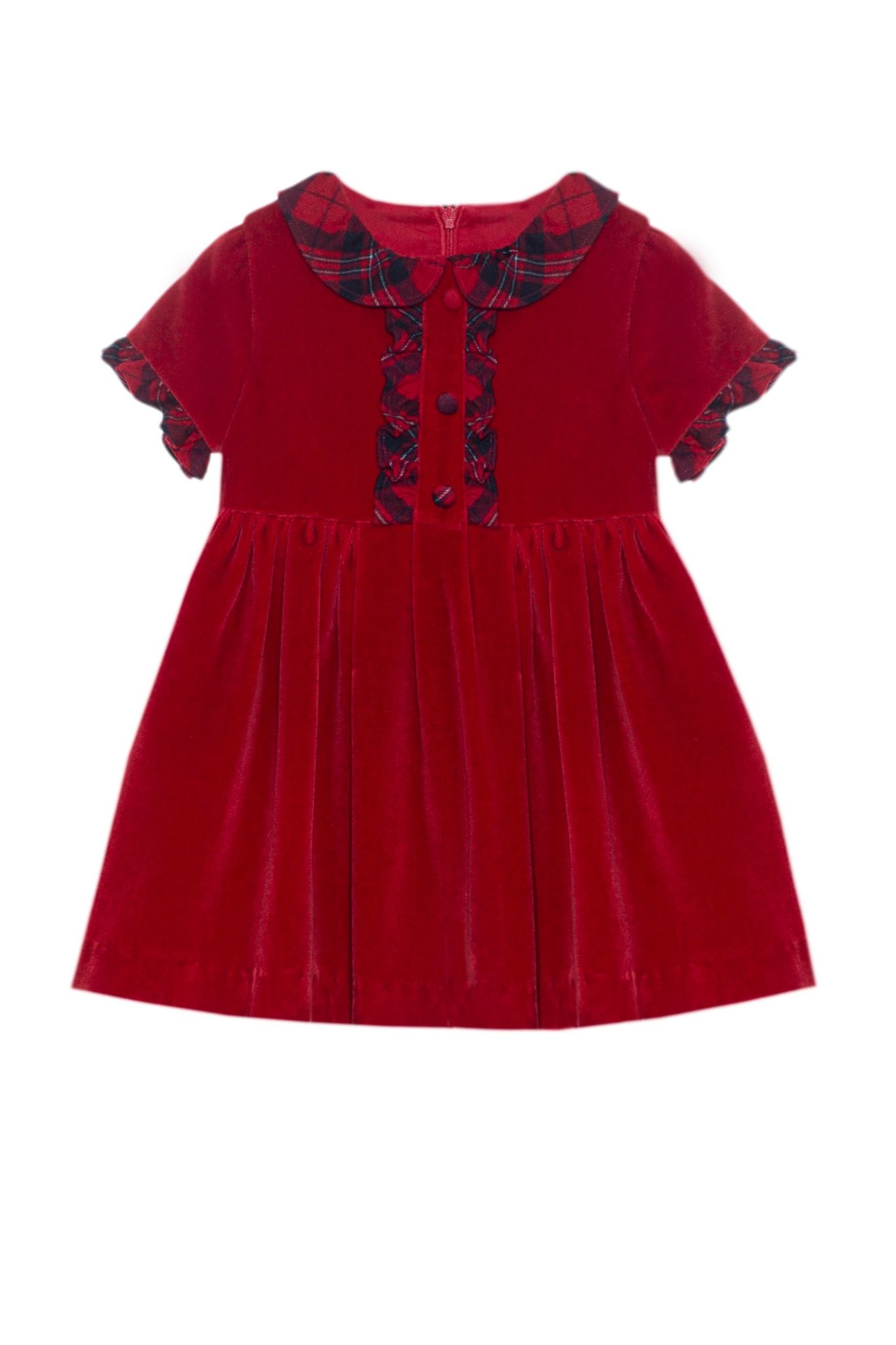 Patachou Patachou Red Tartan Dress